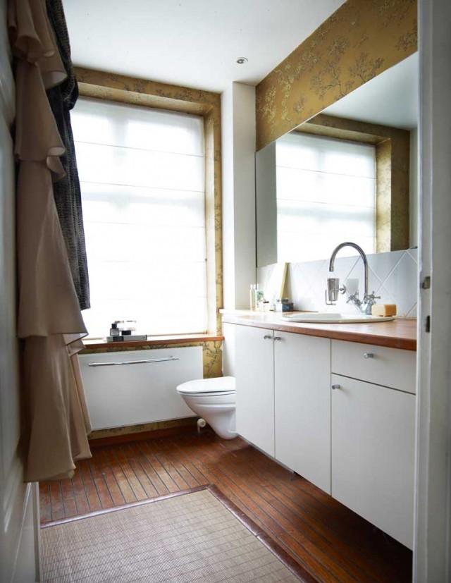 北欧风格三居177平别墅卫生间浴室柜地毯装修效果图