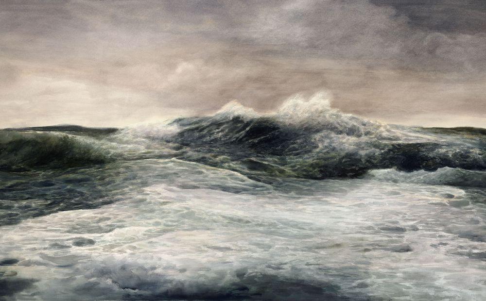 巨浪 陈坚 2011   纸上作品188×106cm