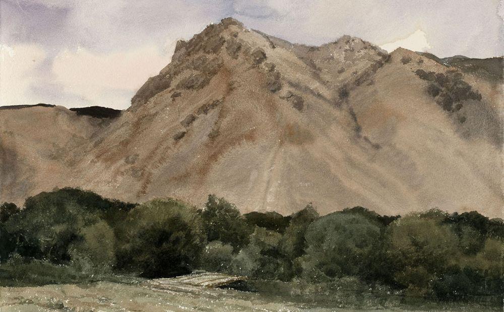 班迪尔的风景写生陈坚  2010年 纸上作品 56×76cm