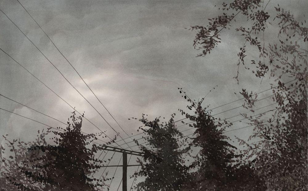 雾霾 陈坚2009年 纸上作品96×62cm