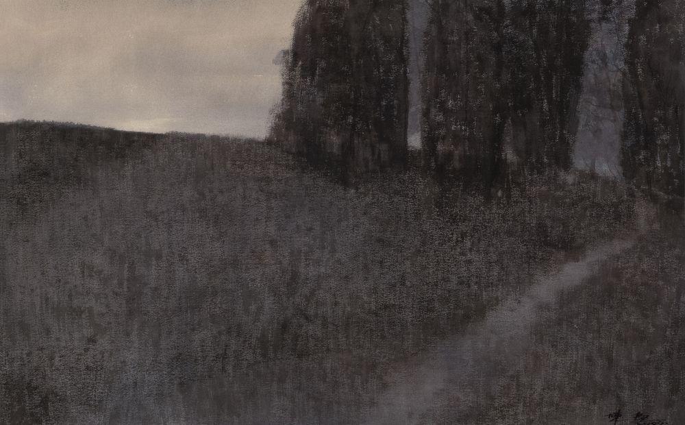 忧伤的样子陈坚 2009年 纸上作品  64×98cm