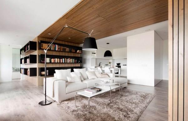 浅色地板散发书香气息 清新爱书人的家