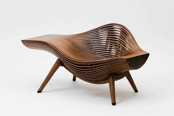 如流水般的木质沙发和桌椅 实用美观的经典设计
