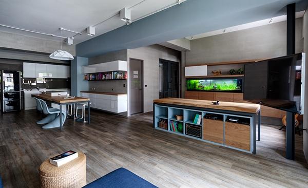 台湾开放式规划现代公寓   自然又有历史感