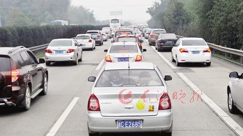 省内高速迎返程高峰 高速服务区成为新堵点