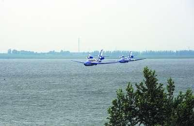 水陆两栖飞机在沈阳法库试飞