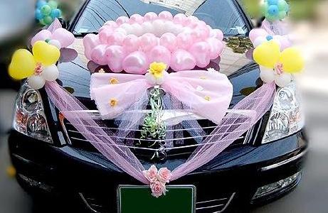 气球装饰款-婚车款式大盘点