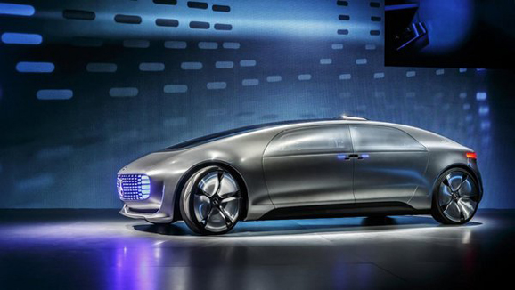 无人驾驶汽车从科幻电影中走出高清图片