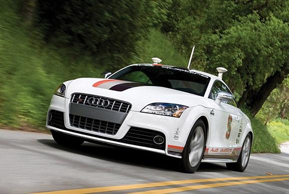 无人驾驶汽车 从科幻电影中走出高清图片