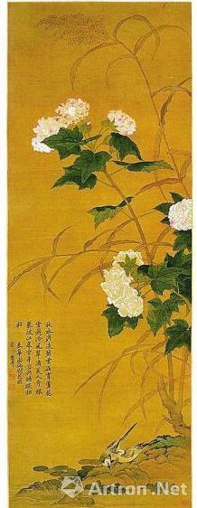 恽寿平 芦花芙蓉图轴 广州艺术博物院藏