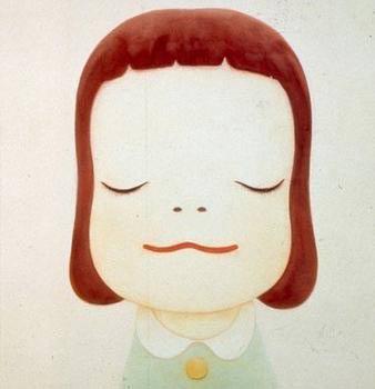 奈良美智标志性的大头娃娃作品