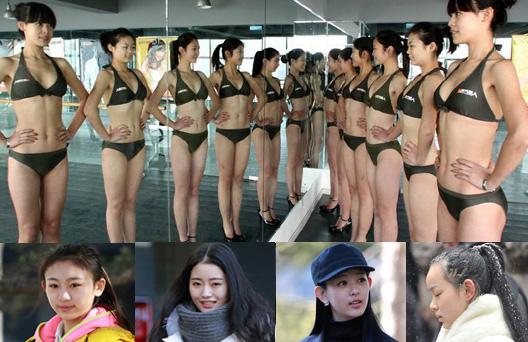 """2014年艺考招生火爆依旧 艺术以""""三围""""衡量(组图)"""
