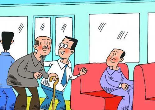 学生排队吃饭卡通