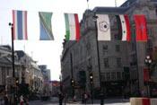 伦敦街头挂中华民国国旗