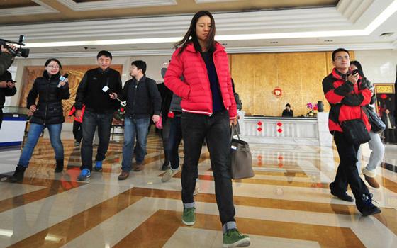 李娜返回家乡武汉