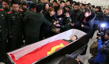 春节间遇难两90后消防员追悼会