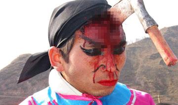 陕西古老祭祀:为何能头插剪子血满面 镰刀入脑肉绽开