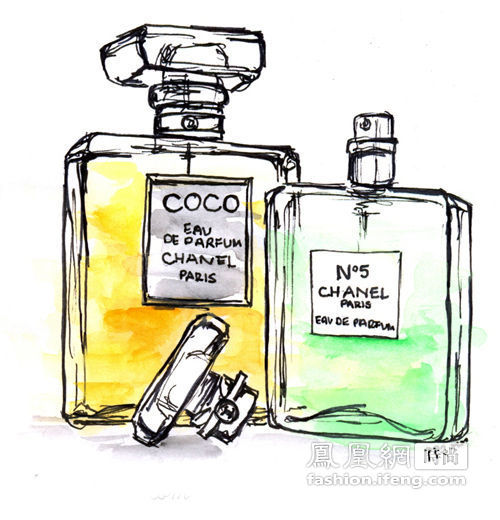 使用香水图手绘