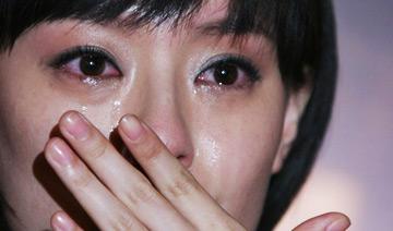 明星在灾难面前流泪组照
