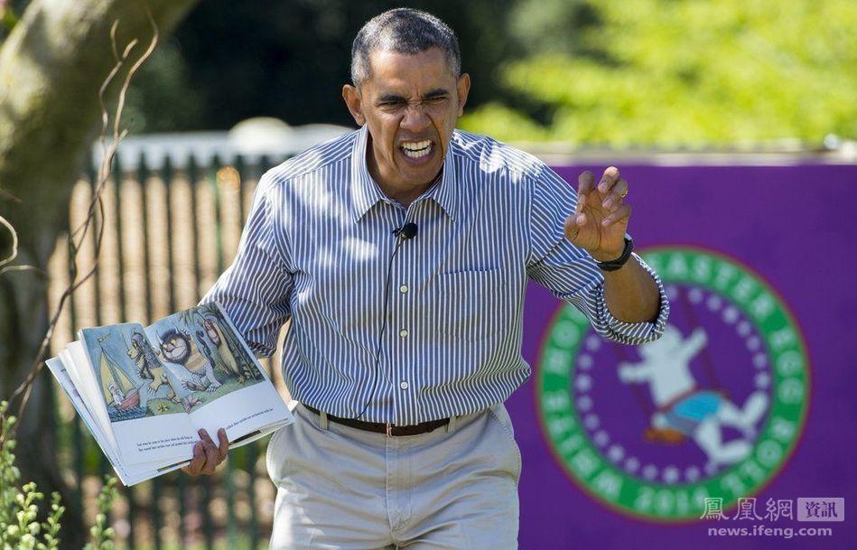 奥巴马在白宫给小孩讲故事(1/7) -  东方.旭 - 东方.旭的博客