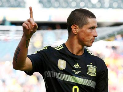 托雷斯进球 西班牙2-0澳大利亚