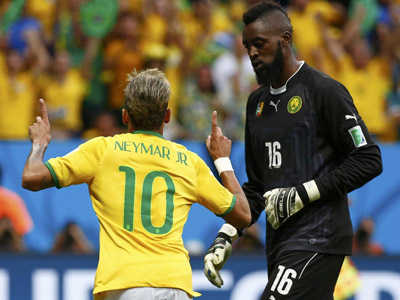 内马尔攻进本届世界杯第100球 巴西1-0领先喀麦隆
