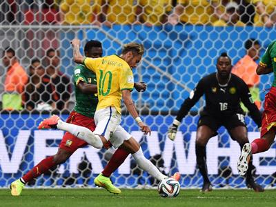 内马尔再下一城射手榜居首 巴西2-1反超喀麦隆