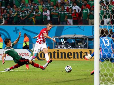 佩里希奇小角度破门 克罗地亚1-3墨西哥