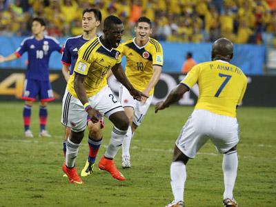 马丁内斯低射破门  哥伦比亚2-1再度领先日本