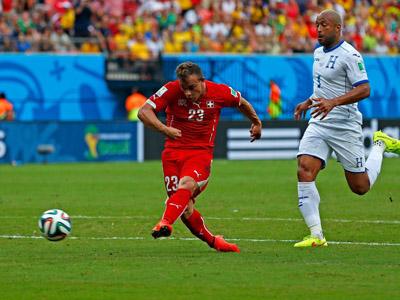 沙奇里梅单刀破门梅开二度 瑞士2-0洪都拉斯