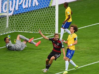 穆勒轻松垫射 德国1-0巴西