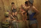 朝鲜不在保守 公开女工洗澡照