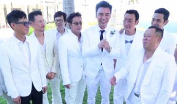 61岁钟镇涛大婚内场:史上最强伴郎团助阵