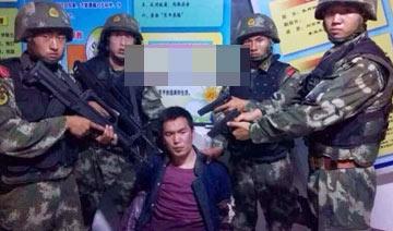 黑龙江杀警越狱三号嫌犯被抓现场