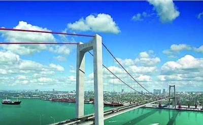 中交二公院设计的莫桑比克马普托跨海大桥效果图图片