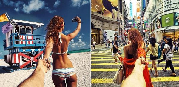 13,俄罗斯摄影师murad osmann在instagram上发布自拍照《follow me》