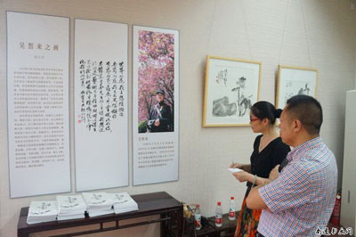 通州高二学生吴皙来举办个人书画展