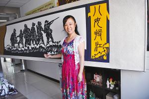 5Lq655Sf_淮西小学老师创作《八女投江》剪纸缅怀抗战先烈 ...