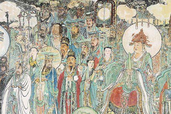 壁画是指图画在墙壁上的绘画艺术,例如宫殿、寺观、墓室、...