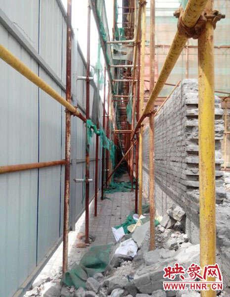 施工现场框架结构楼梯隐患