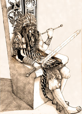 """""""宝剑国王""""塔罗牌的意义-互联星空"""