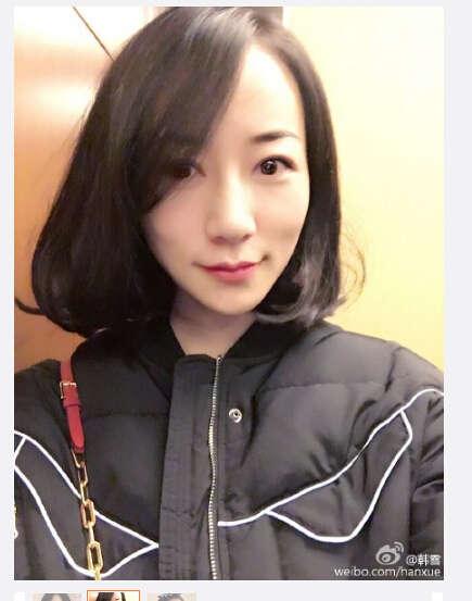 韩雪晒短发造型 戴蝴蝶结发箍俏皮可爱(组图)