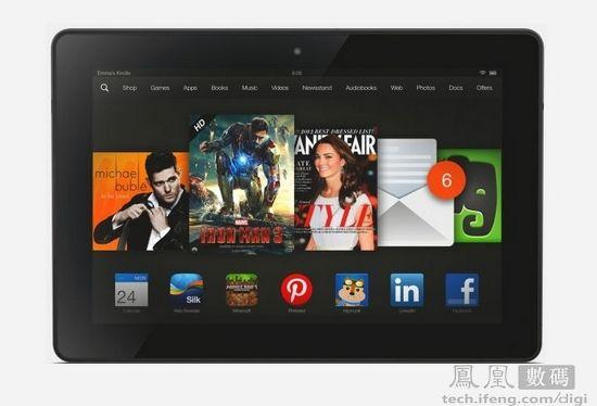 亚马逊Kindle Fire HDX开卖 约1394元起售