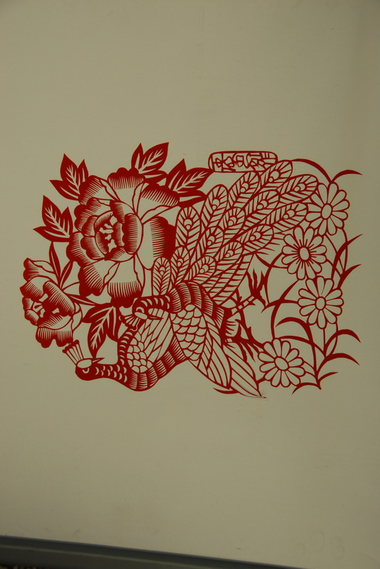 中国梦剪纸打印素材