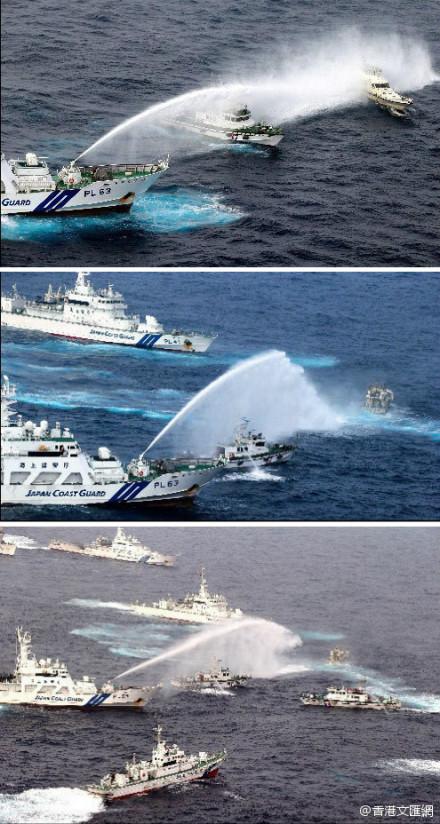 保钓船逼近钓鱼岛时遭日方喷水,现在已经返航。