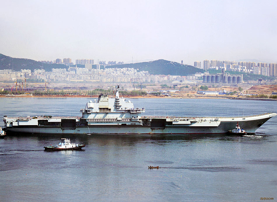 中国航母最新消息 直击中国航母平台第八次航海测试