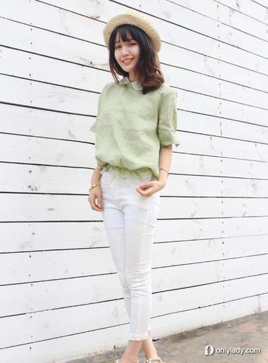 小脚雪纺+女生裤帮胖女生修身藏肉的最佳搭配衬衫多人挠图片