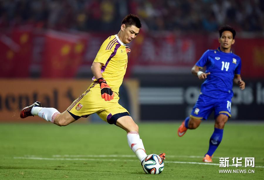2014足球友谊赛:中国足球队3-0胜泰国队