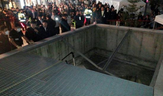 韩女团舞台坍塌 15死者陈尸地下停车场