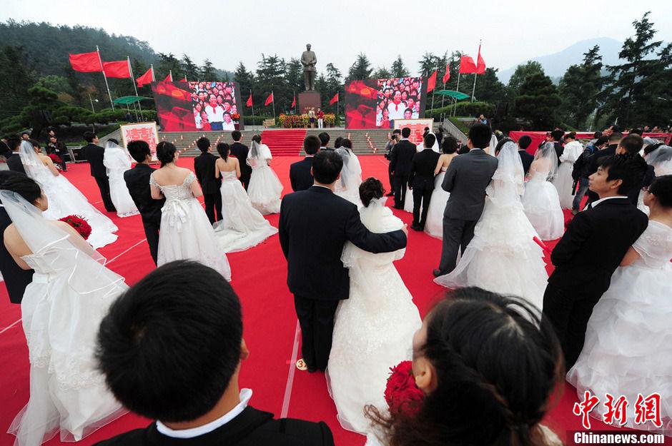 100位新人乘专列赴韶山办红色婚礼 - 深瞳渊源,品味经典!